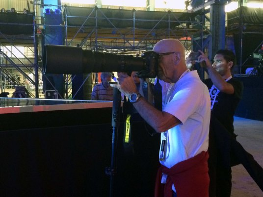 LINO AT THE JUNIOR EUROVISION MALTA, AT THE FORMER MALTA SHIP BUILDING YARDS: it was always admirable seeing him at major press events, hauling photo gear kit and snapping away to transmit his shots to AP or EPA in his typical