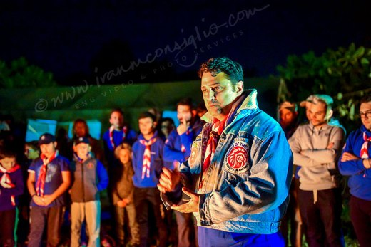 St. Aloysius' College Scout Group's GSL Edward Cassola, at the annual Easter Camp of 2019.